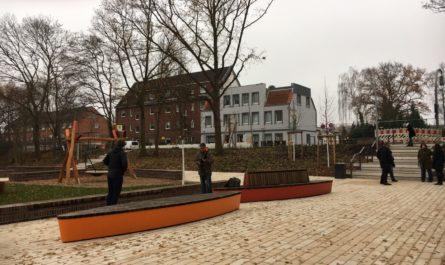 Eine andere Ansicht des neuen Quartierplatzes in Georgswerder