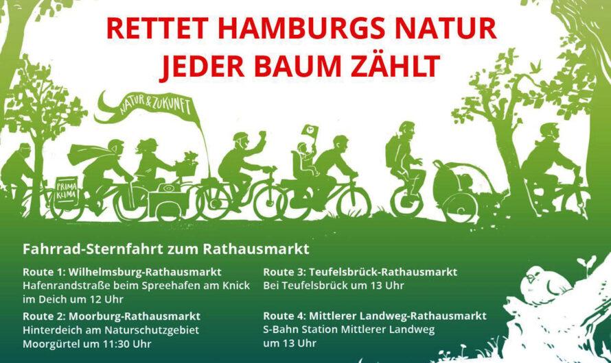 Demo 29. Mai 2021: Rettet Hamburgs Natur! Jeder Baum zählt. Komm mit – für den WiWa, für den Völli, für alle Bäume und Naturflächen in Hamburg!