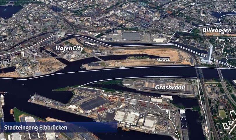 Der neue Stadtteil Grasbrook – Start der Flächenfreimachung
